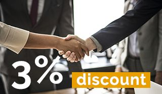 Clientii fideli primesc discount 3%